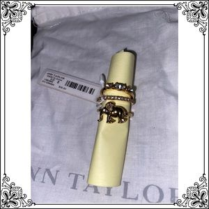 ANN TAYLOR SET OF 3 STACKING GOLD RINGS - $39.50